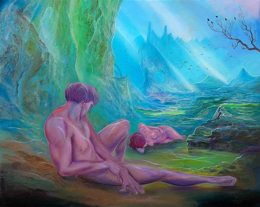 Tiefschlaf - Ölbild / Leinwand - Gemälde von  S t e r n h a g e l