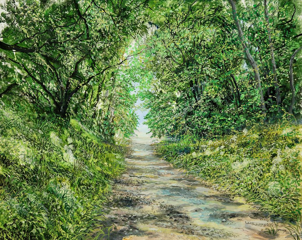 Tunnelweg - Ölbild / Leinwand - Gemälde von  S t e r n h a g e l
