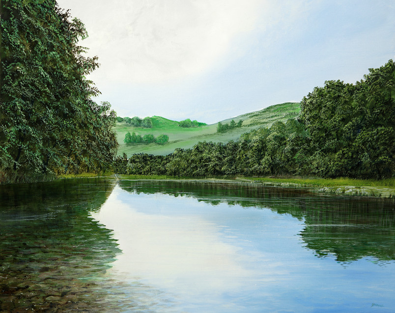 Ungespiegeltes Land - Ölbild / Leinwand - Gemälde von  S t e r n h a g e l