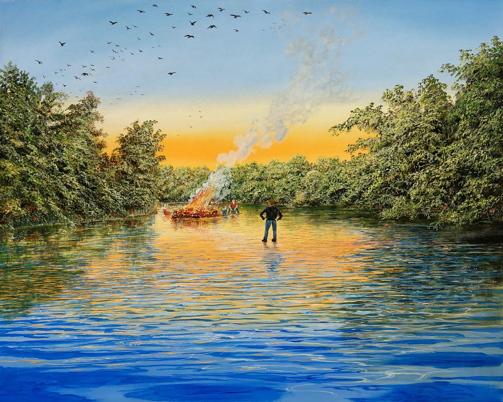 Verbotenes Feuer - Ölbild / Leinwand - Gemälde von  S t e r n h a g e l