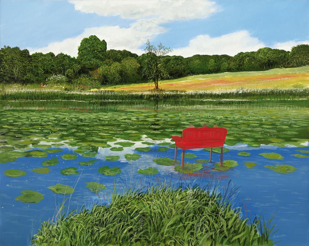 Wasserblick - Ölbild / Leinwand - Gemälde von  S t e r n h a g e l