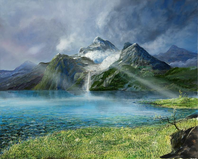 Wasserquelle - Ölbild / Leinwand - Gemälde von  S t e r n h a g e l