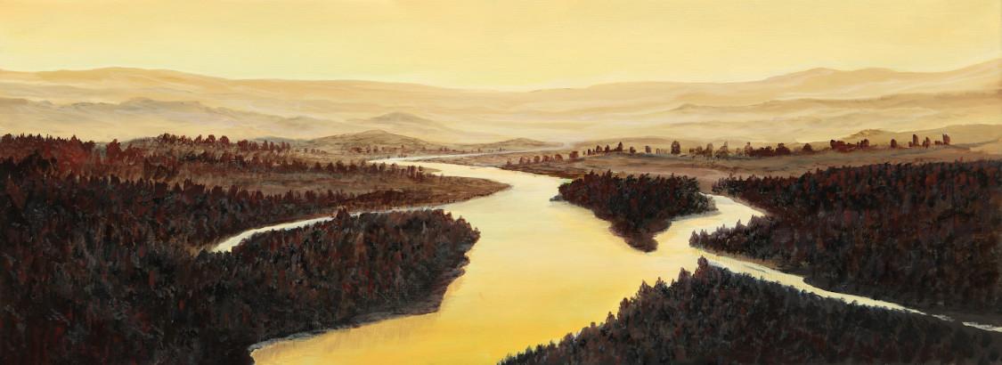 Weites Land - Ölbild / Leinwand - Gemälde von  S t e r n h a g e l