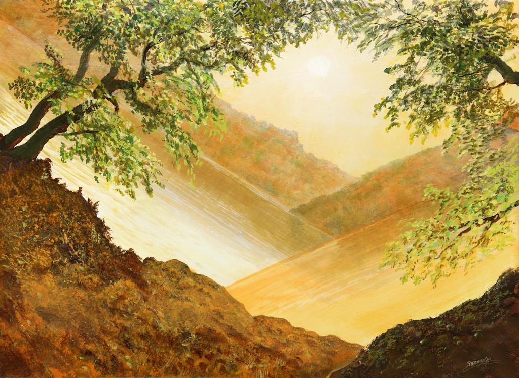 Zerbrechliche Welt - Ölbild / Leinwand - Gemälde von  S t e r n h a g e l
